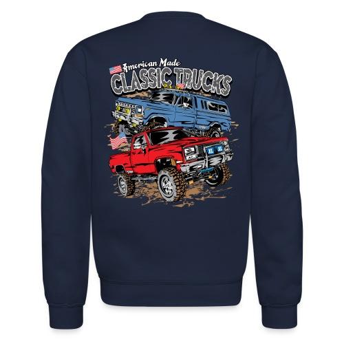 Classic Trucks USA BACK - Crewneck Sweatshirt