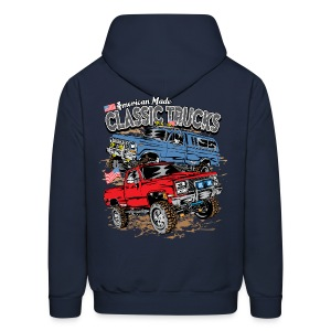 Classic Trucks USA BACK - Men's Hoodie