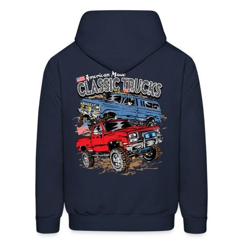 Classic Trucks USA BACK - Men's Hoodie