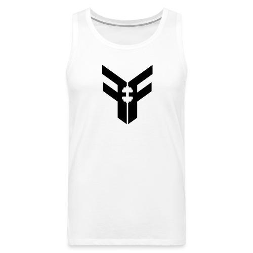 Men's Federation Fit Logo Tank (White/Black) - Men's Premium Tank