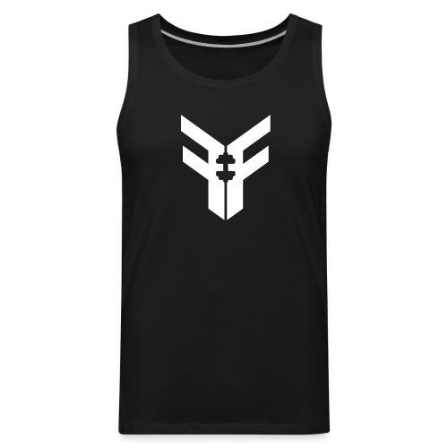 Men's Federation Fit Logo Tank (Black/White) - Men's Premium Tank