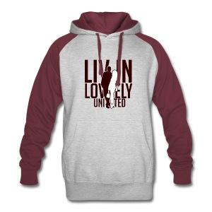 Livin Lovely United Burgundy/Gray Color Block Hoodie - Colorblock Hoodie