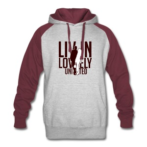Livin Lovely United Burgundy/Gray Color Block Hoodie - Colorblock Hoodie