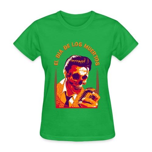 Halloween Elvis Dead     El Dia de los Muertos Women's T-Shirts - Women's T-Shirt