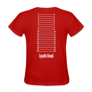 Length Check Shirt (Red) - Women's T-Shirt