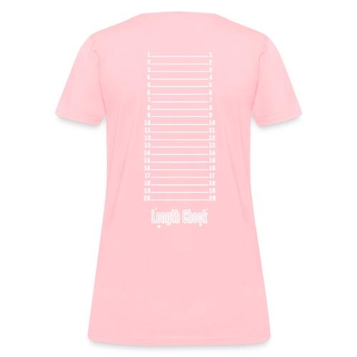 Length Check Shirt (Pink) - Women's T-Shirt