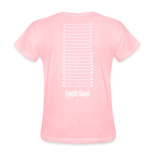 Length Check Shirt (Pink) - Women's T-Shirt