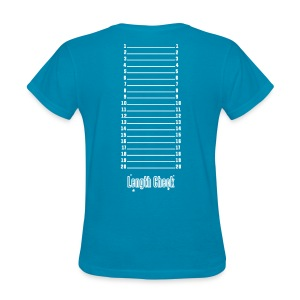 Length Check Shirt (Blue) - Women's T-Shirt