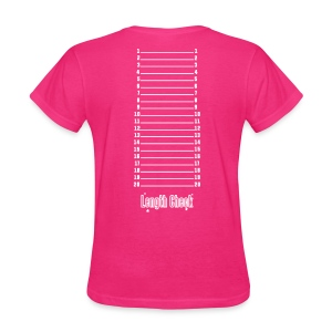 Length Check Shirt (Hot Pink) - Women's T-Shirt