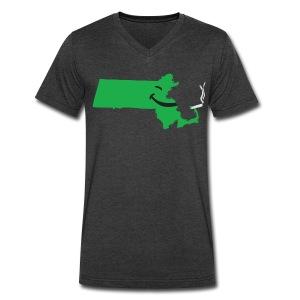 Puff Puff Mass - Men's V-Neck T-Shirt by Canvas