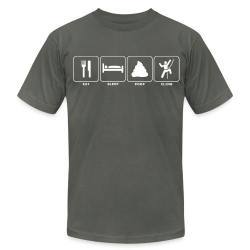 Eat. Sleep. Poop. Climb. - Men's Fine Jersey T-Shirt