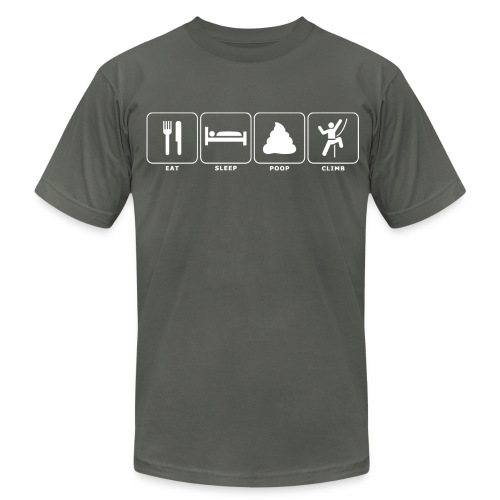 Eat. Sleep. Poop. Climb. - Men's  Jersey T-Shirt