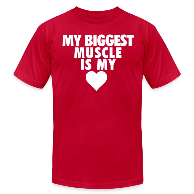 My Biggest Muscle - Men's T-Shirt by American Apparel