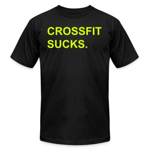 Crossfit Sucks Neon - Men's T-Shirt by American Apparel