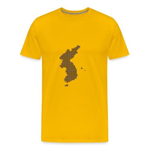 Pixel Korea Map T-Shirt for Men - Men's Premium T-Shirt