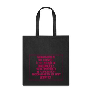 No photography allowed - Tote Bag
