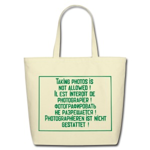 No photography allowed - Eco-Friendly Cotton Tote