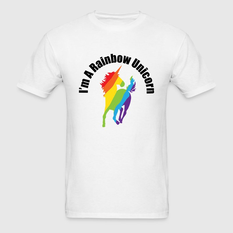 I'm A Rainbow Unicorn Gay and Lesbian Humor T-Shirts - Men's T-Shirt