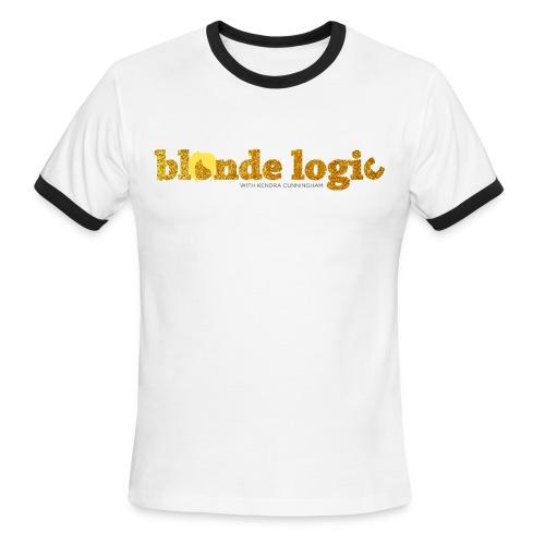 Blonde Logic Glitter  - Men's Ringer T-Shirt