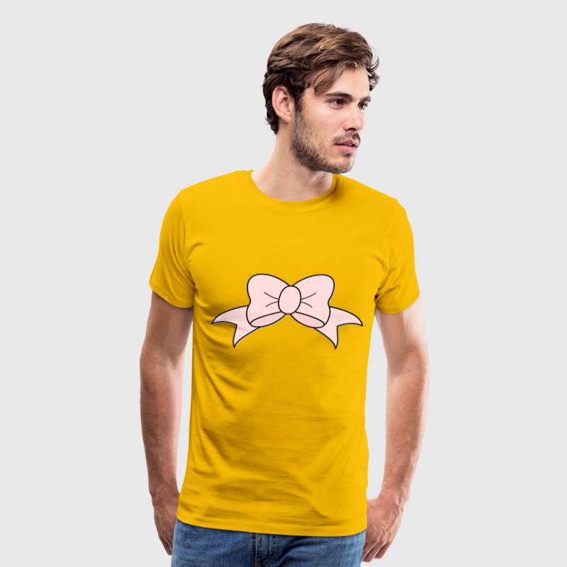 Pink Bow - Men's Premium T-Shirt