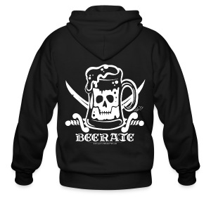 Beerate - white - Men's Zip Hoodie