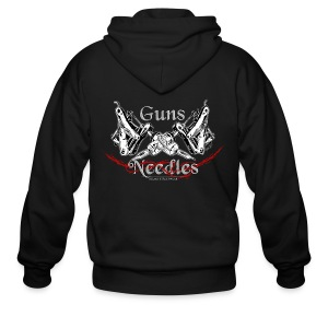 Guns & Needles - Men's Zip Hoodie