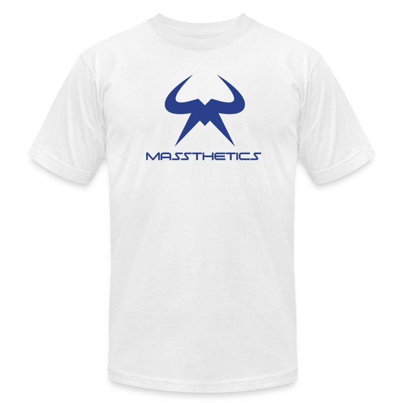 Blue Logo Free Color Selection - Men's T-Shirt by American Apparel