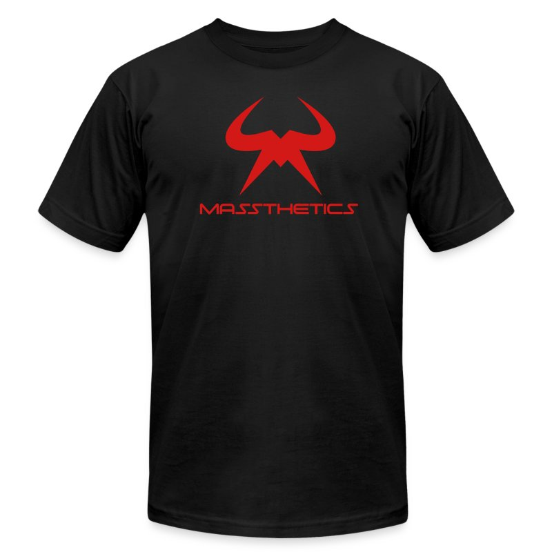 Red Logo Free Color Selection - Men's T-Shirt by American Apparel