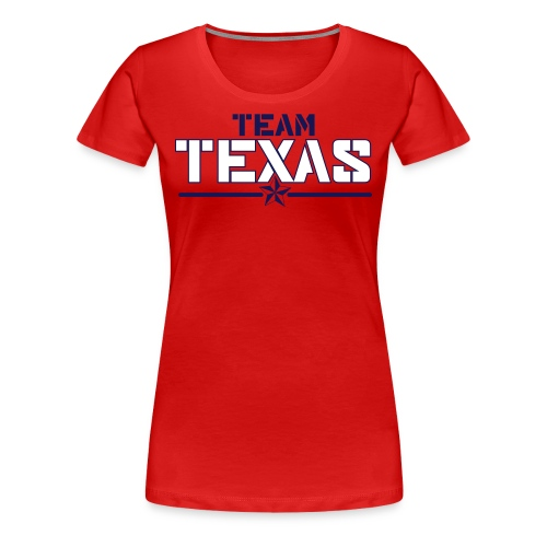 Women's Team Shirt (Red) - Women's Premium T-Shirt
