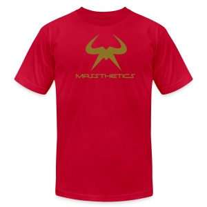 Massthetics Logo Iron Oak - Men's T-Shirt by American Apparel