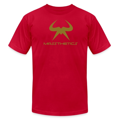 Massthetics Logo Iron Oak - Men's Fine Jersey T-Shirt