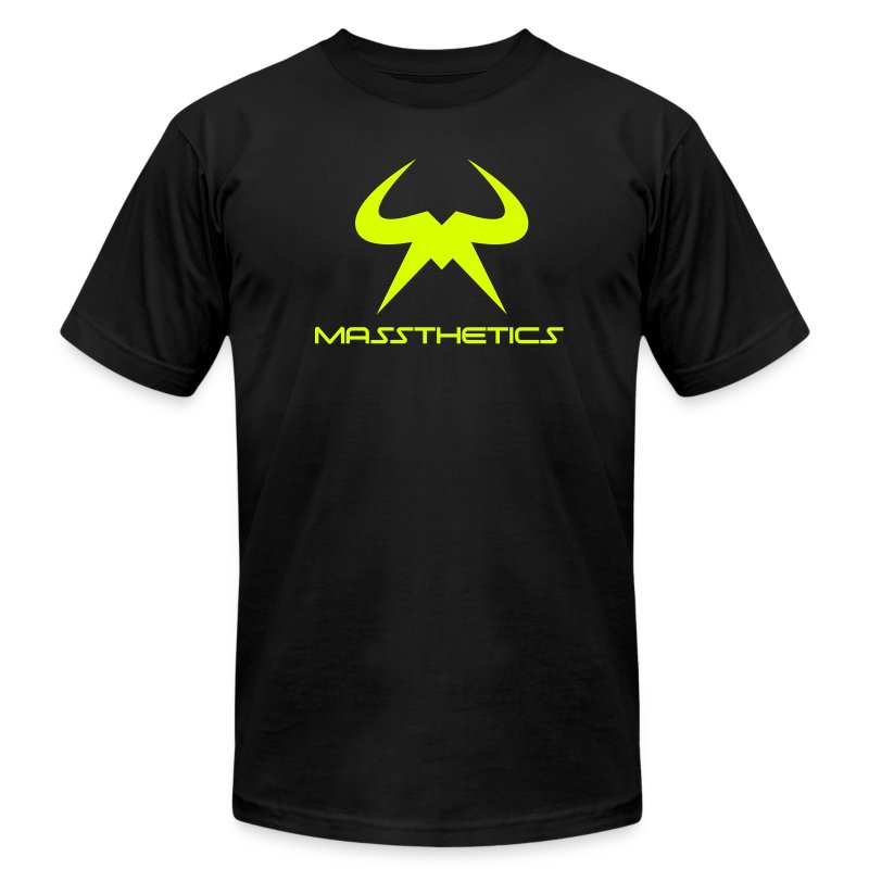 Massthetics Logo Neon - Men's T-Shirt by American Apparel