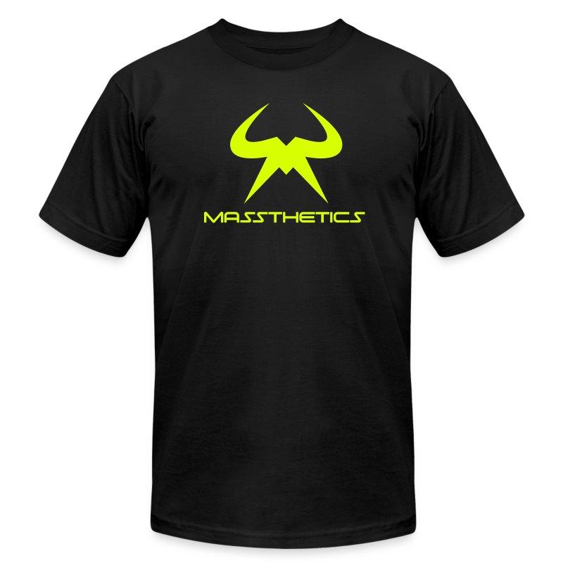 Massthetics Logo Neon - Men's Fine Jersey T-Shirt