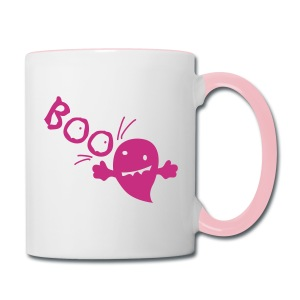 BOO Halloween  cute Contrast Coffee Mug - Contrast Coffee Mug