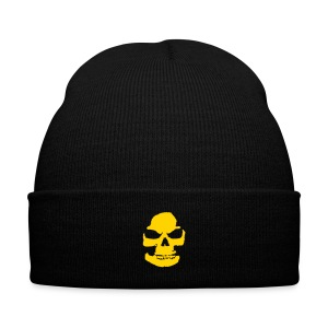 Skeleton Knit Cap with Cuff Print - Knit Cap with Cuff Print