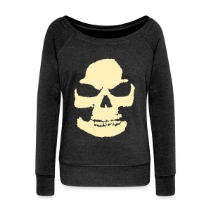 Skeleton Halloween Women's Wideneck Sweatshirt - Women's Wideneck Sweatshirt