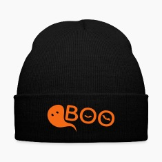 BOO  cute monster Knit Cap with Cuff Print