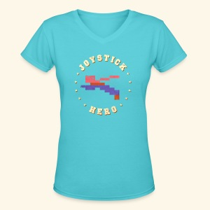 Joystick Hero 2 - Women's V-Neck T-Shirt