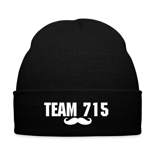 Team 715 Mustache Touque - Knit Cap with Cuff Print