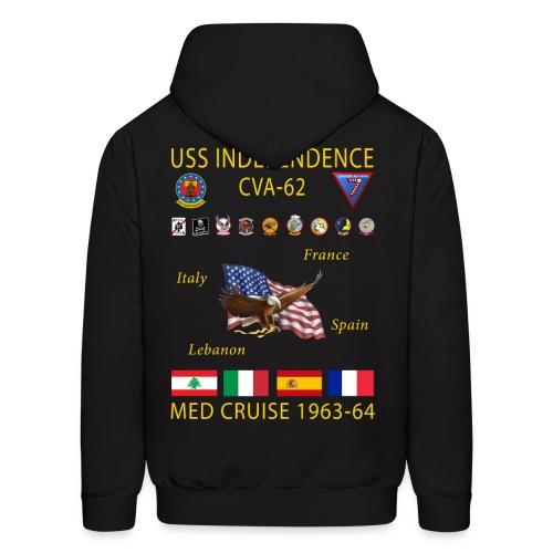 USS INDEPENDENCE 1963-64 CRUISE HOODIE - Men's Hoodie