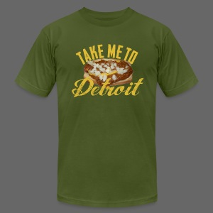 Take Me To Detroit Coney - Men's T-Shirt by American Apparel