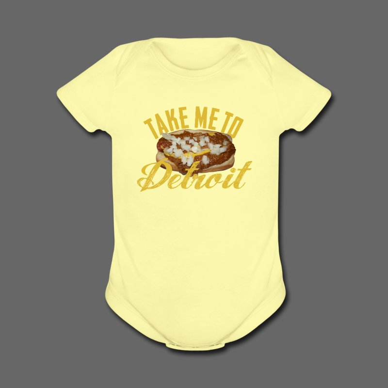 Take Me To Detroit Coney - Short Sleeve Baby Bodysuit