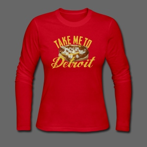 Take Me To Detroit Coney - Women's Long Sleeve Jersey T-Shirt