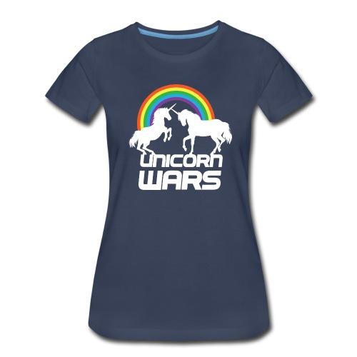 Unicorn Wars with Rainbow Premium Women's T-shirt - Women's Premium T-Shirt