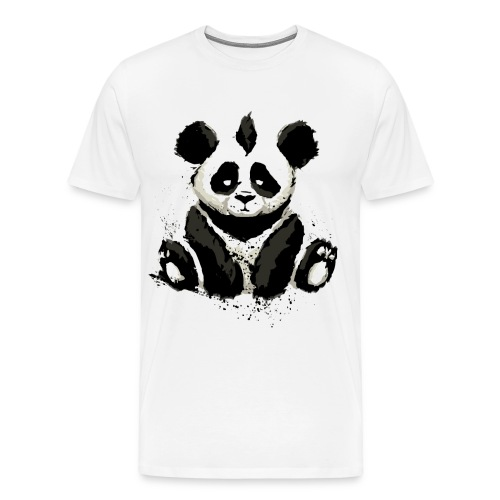 Inked Panda Bear - Men's Premium T-Shirt
