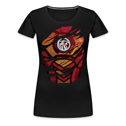 Elf's Premium Women's T-Shirt (White Emblem) - Women's Premium T-Shirt