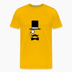 Gentleman mustache monocle beard cylindrical glass T-Shirts