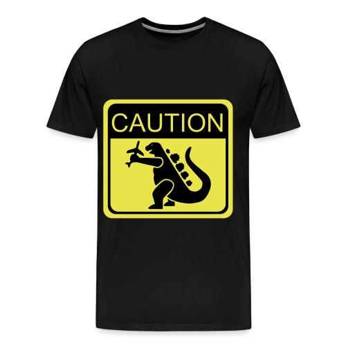 Caution Godzilla - Men's Premium T-Shirt