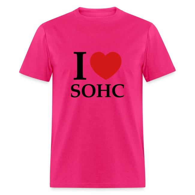 I Love SOHC (Red/Black Design) | Men's T-Shirt