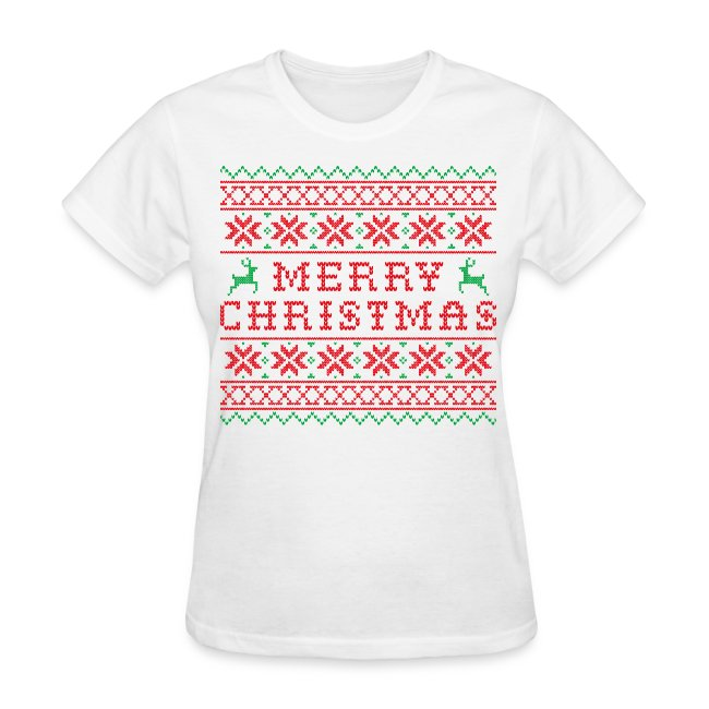 ugly merry christmas sweater t shirt - Pink Ugly Christmas Sweater